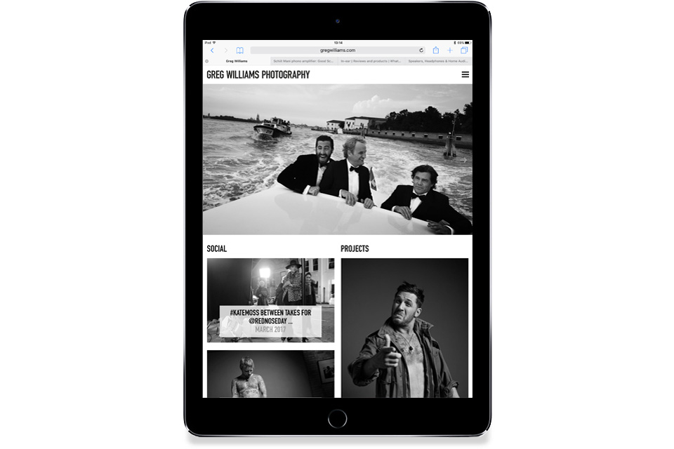 Greg Williams, Photography, Website, Design
