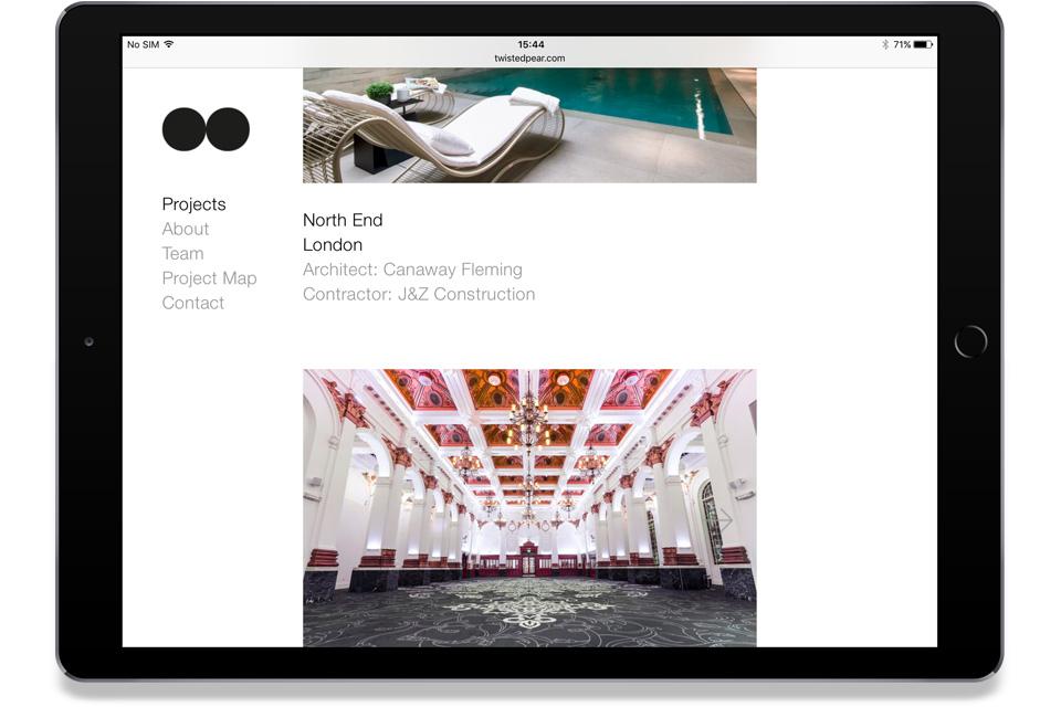 Twisted Pear Website, Mike Bone Design