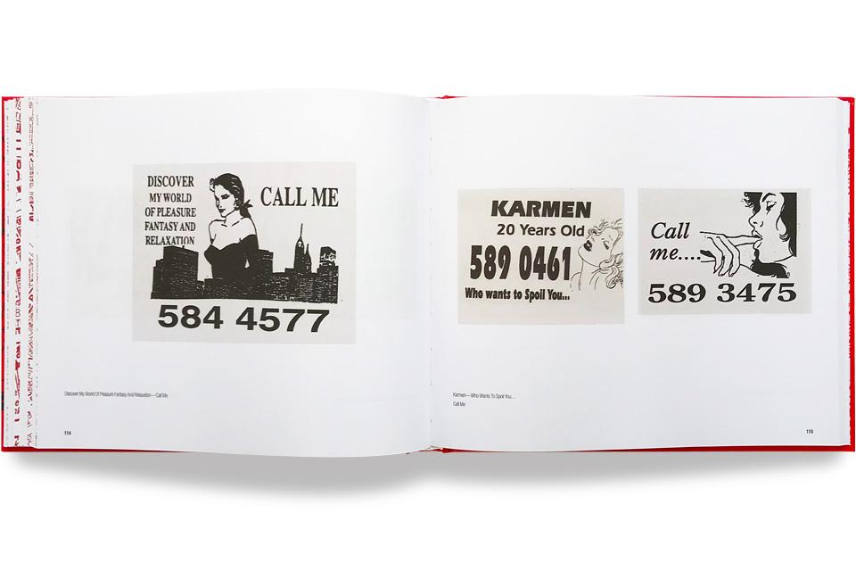 Tart Art, Book, Chelsea-Louise Berlin, Telephone Box Calling Cards, London, 1980, 80s
