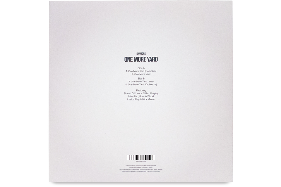 Evamore, One More Yard, Sinead O'Connor, Cillian Murphy, Brian Eno, Ronnie Wood, Imelda May, Nick Mason, Evamore Records, ie music