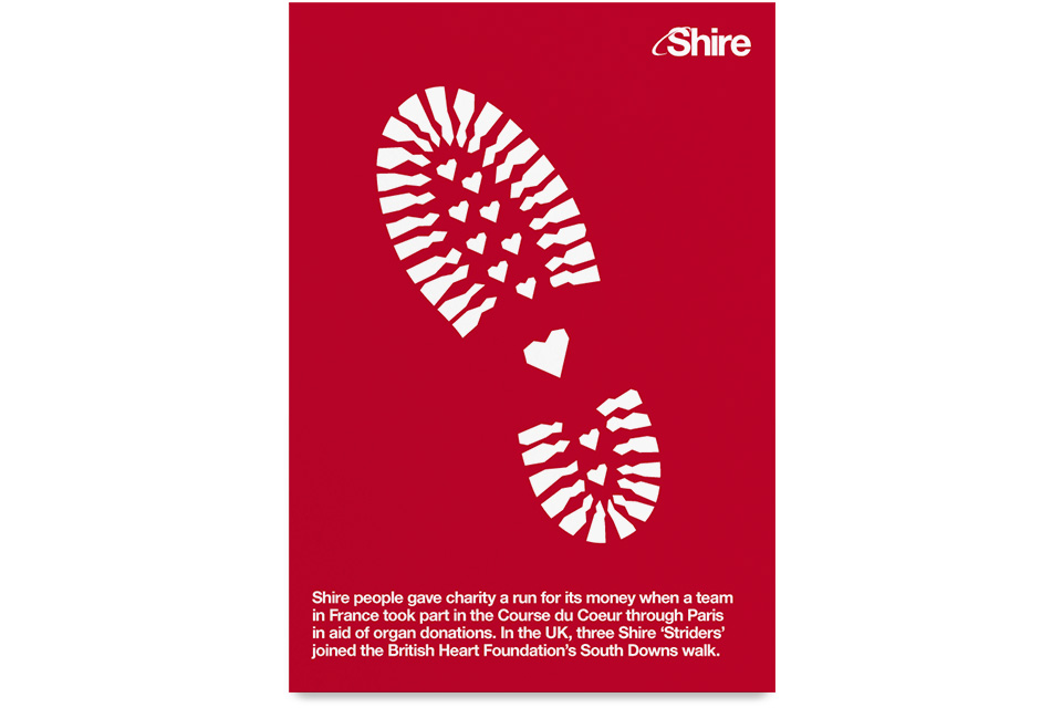 Shire, Shire Pharmaceuticals, Takeda, Corporate Responsibility, CR, Posters, Mike Bone, Graphic Design, Art Direction