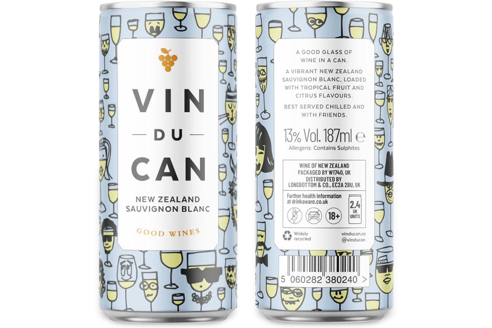 Vin Du Can, White, Longbottom, Mike Bone Design
