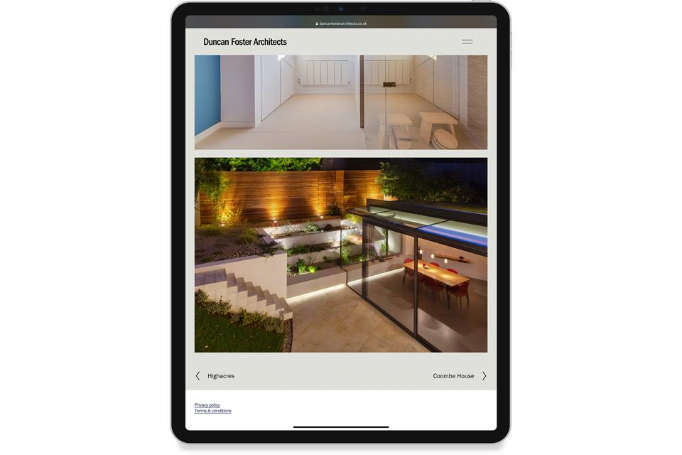 Duncan Foster Architects, RIBA, Website, Website Design, MIke Bone