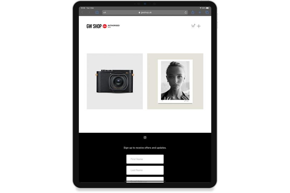 GW Shop Website